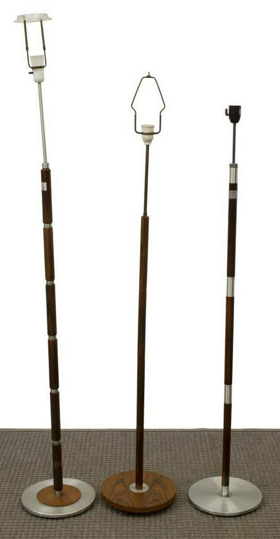 (3) DANISH MID-CENTURY MODERN FLOOR LAMPS