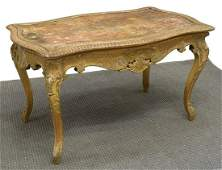 FRENCH LOUIS XV STYLE GILTWOOD CENTER TABLE