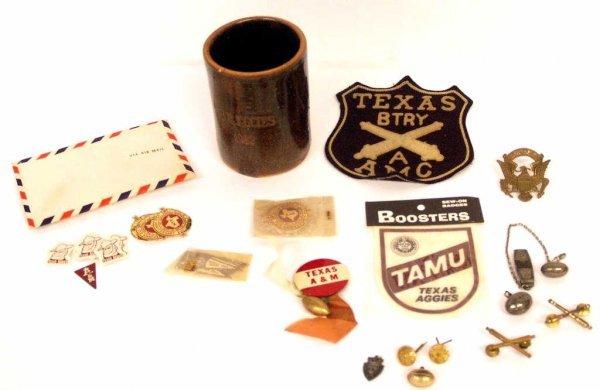 701: TEXAS A & M UNIVERSITY AGGIES FOOTBALL PINS 1930'S