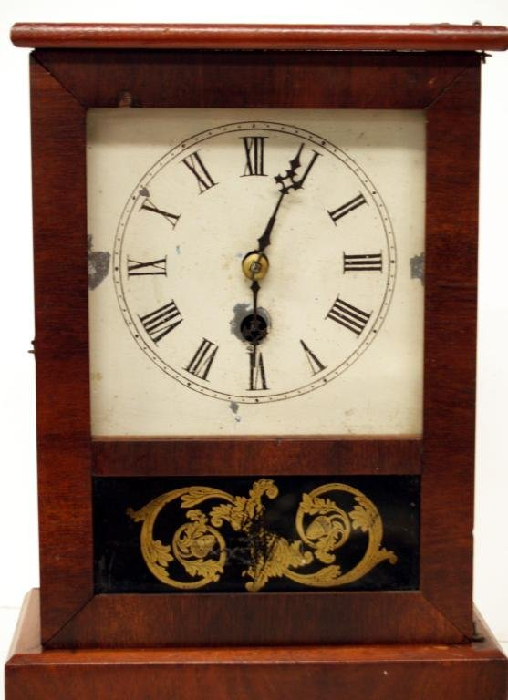 717: UNUSUAL ANTIQUE E.N. WELCH MAHOGANY COTTAGE CLOCK - 2