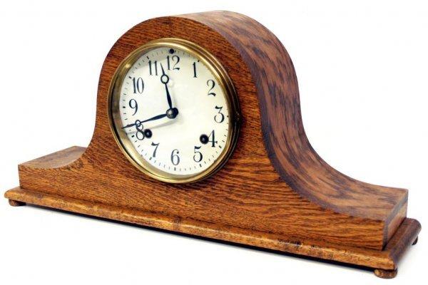720: ANTIQUE  NEW HAVEN TAMBOUR #16 MANTLE CLOCK