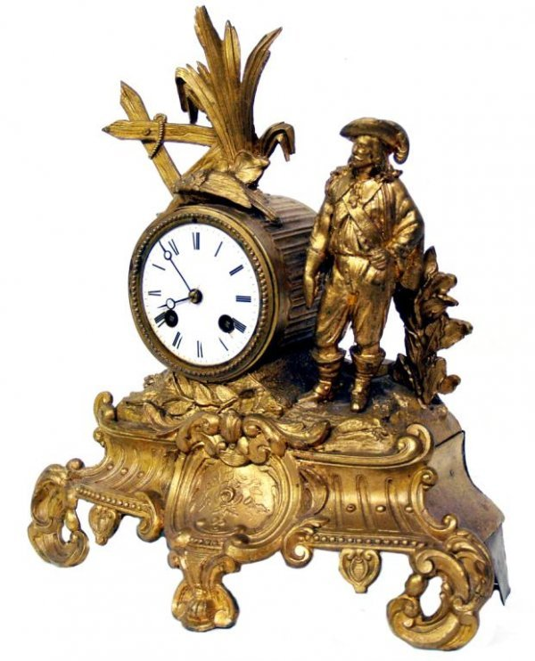 724: ANTIQUE FRENCH JAPY FRERES COMPANY TOILER CLOCK