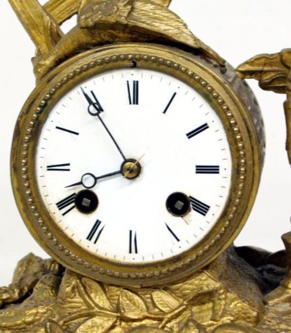 724: ANTIQUE FRENCH JAPY FRERES COMPANY TOILER CLOCK - 3