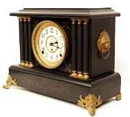 940 ANTIQUE SETH THOMAS FAUX MARBLE MANTLE CLOCK