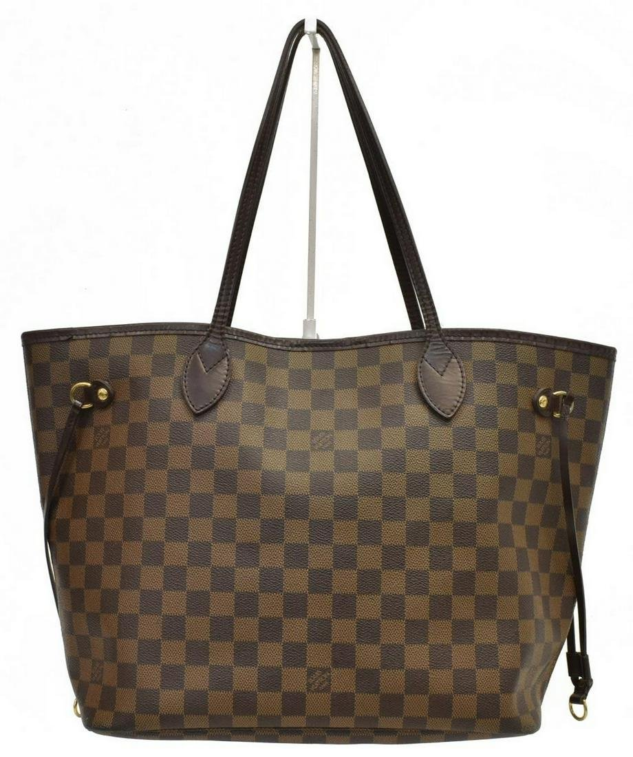 LOUIS VUITTON 'NEVERFULL MM' DAMIER EBENE TOTE BAG