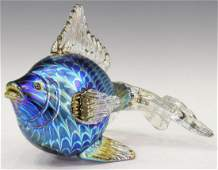 STUART ABELMAN IRIDESCENT ART GLASS GOLDFISH