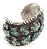 WILFORD BEGAY NAVAJO SILVER  TURQUOISE CUFF