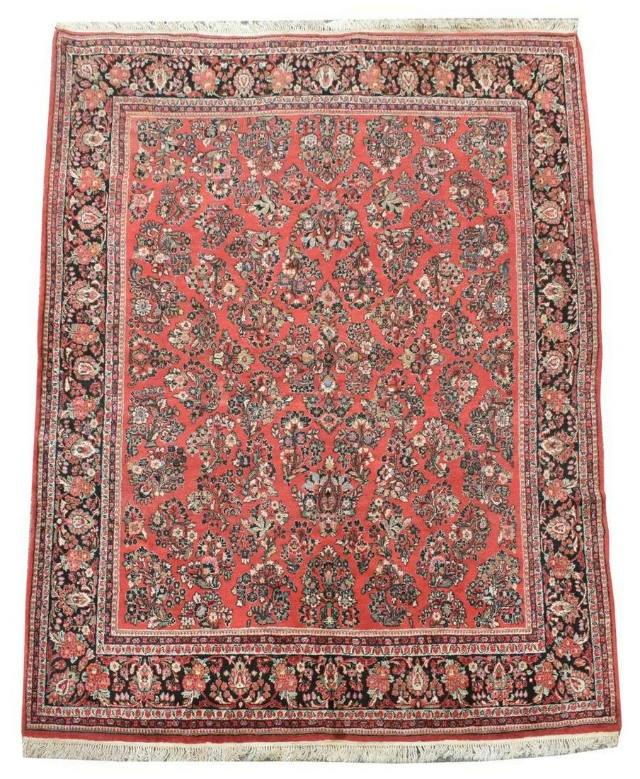 "HAND-TIED PERSIAN RUG, 12'2.5"" X 8'11.5"""