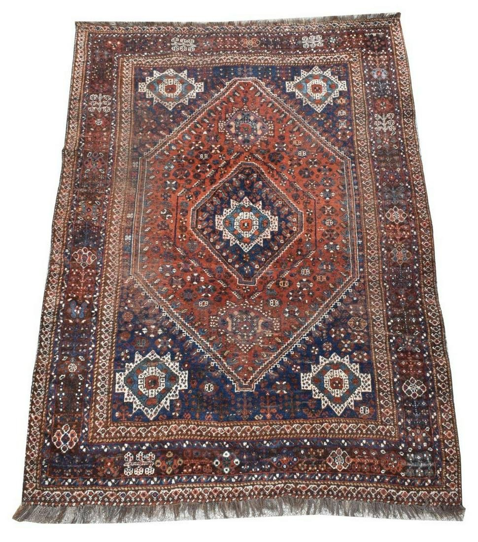 "HAND-TIED PERSIAN RUG, APPROX 9'7"" X 6'11.5"""