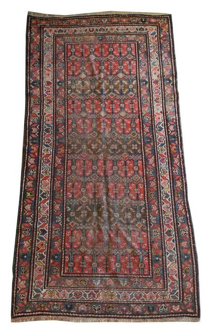 "HAND-TIED PERSIAN KURDISH RUG, 3'4"" X 6'5.5"""