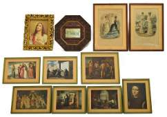 11 FRAMED PRINTS FRENCH FASHION RELIGIOUS ART
