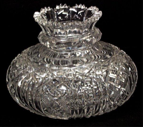 109: FINE AMERICAN BRILLIANT CUT GLASS FLOWER VASE