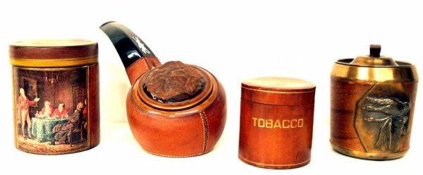 120: VINTAGE TOBACCO JARS, LONGCHAMP FRANCE, ITALY
