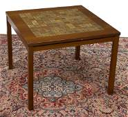 DANISH MID-CENTURY TILE-TOP TEAK SIDE TABLE