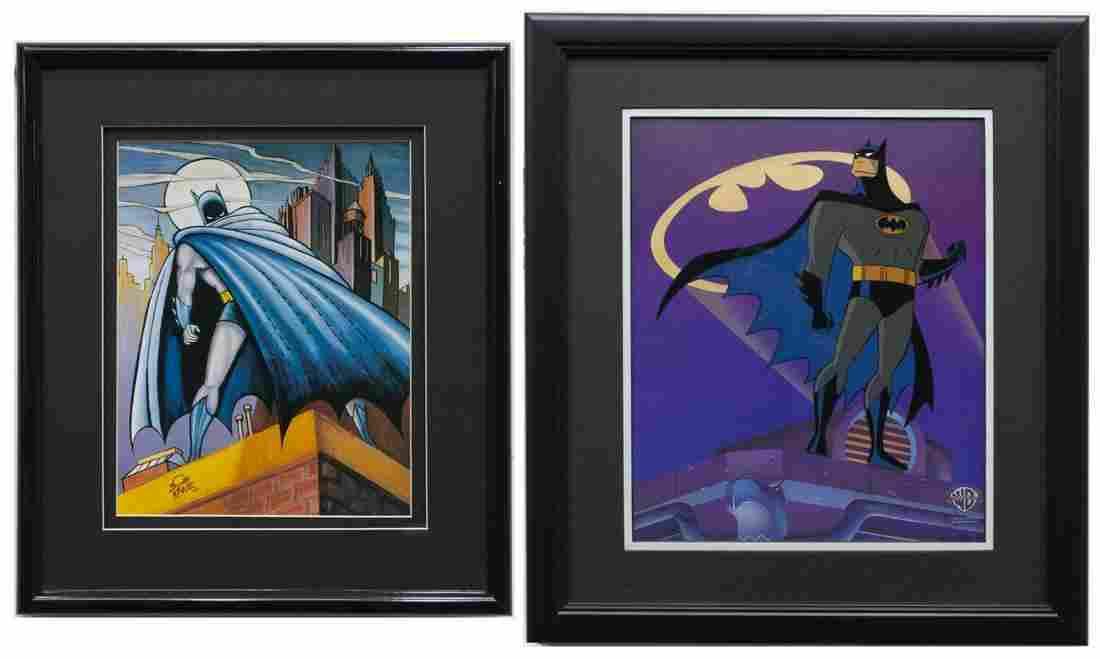 (2) BATMAN LIMITED-EDITION CEL & BOB KANE PRINT
