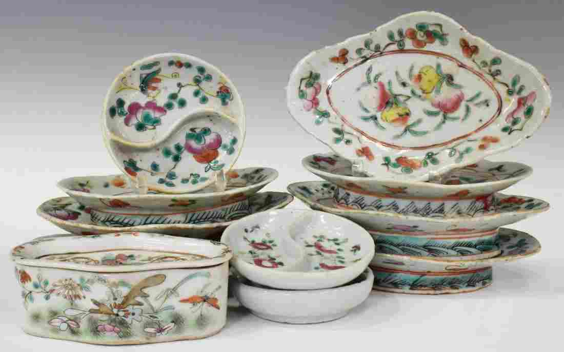 (11) CHINESE FAMILLE ROSE PORCELAIN & CRICKET CAGE