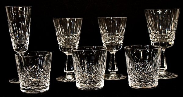 3: LOT OF WATERFORD CUT GLASS, COLLEEN, LISMORE