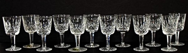 4: 12 WATERFORD LISMORE, CUT GLASS CORDIAL GLASSES