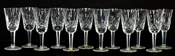 5: 12 WATERFORD LISMORE, CUT GLASS PORT GLASSES