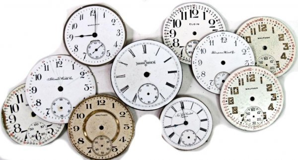 22: POCKET WATCH PARTS WITH DIALS, WORKS, CASES, MORE - 3