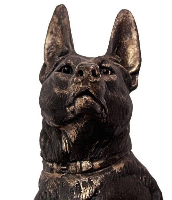 81: FRENCH ART DECO DOG SCULPTURE L CARVIN (1875-1951) - 3