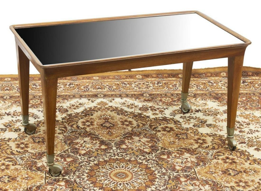 ITALIAN MID-CENTURY MODERN MIRRORED-TOP TABLE