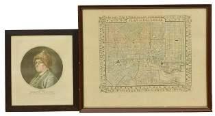 2 BEN FRANKLIN RUOTTE  BALTIMORE MAP ENGRAVINGS