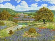 MANUEL GARZA (B.1940) HILL COUNTRY BLUEBONNETS