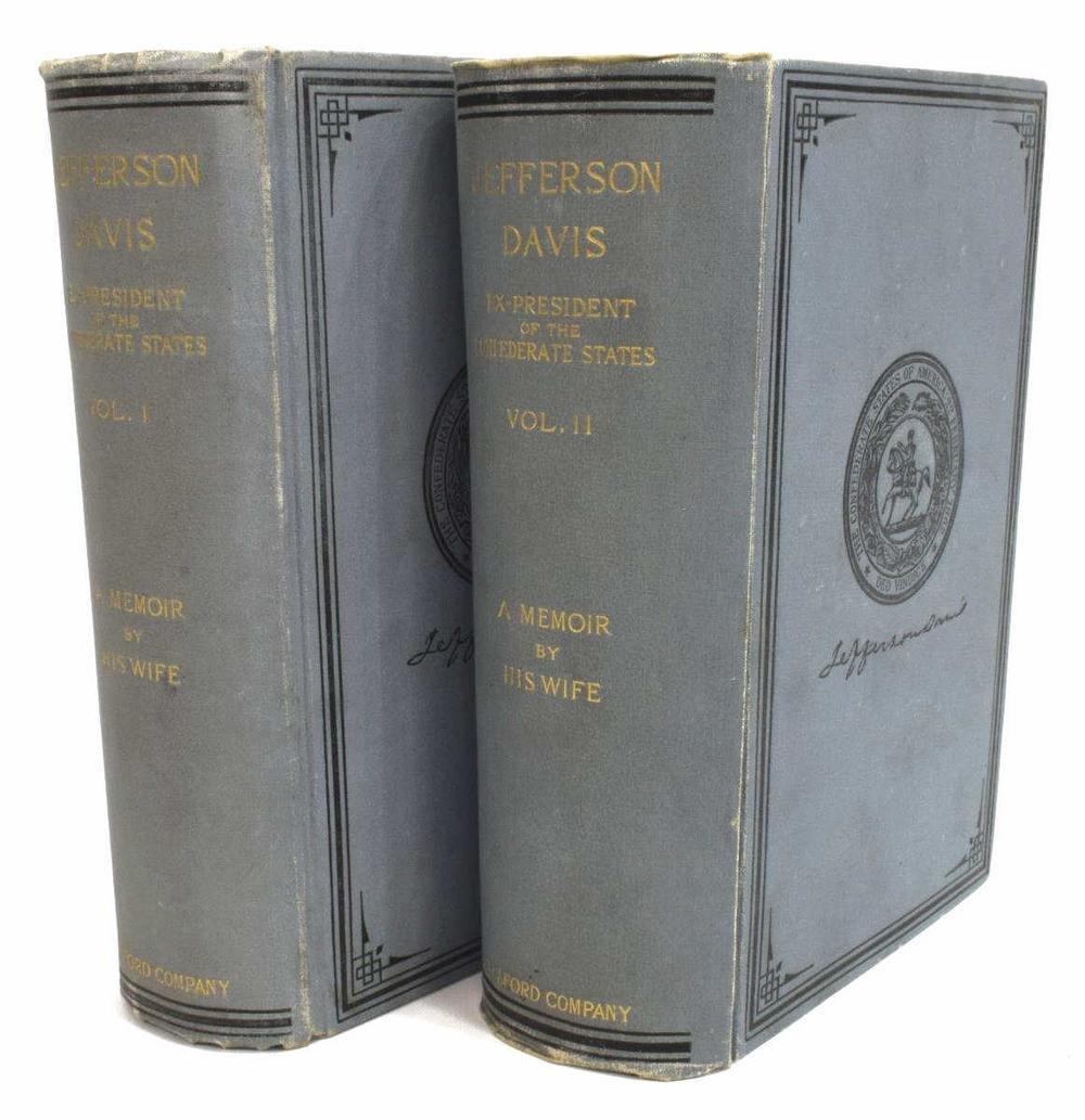 (2 VOLUMES) JEFFERSON DAVIS MEMOIRS, 1890