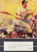 LEROY NEIMAN SIGNATURE  MICKEY MANTLE PRINT