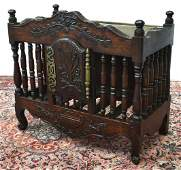 ANTIQUE FRENCH PROVINCIAL SPINDLED PANETIERE