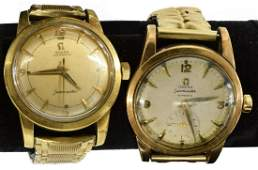 2 VINTAGE GENTS OMEGA AUTOMATIC SEAMASTER WATCHES