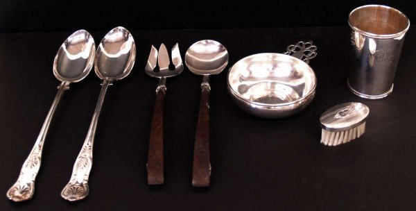 410: MEXICAN STERLING SILVER & PLATE TABLE ARTICLES