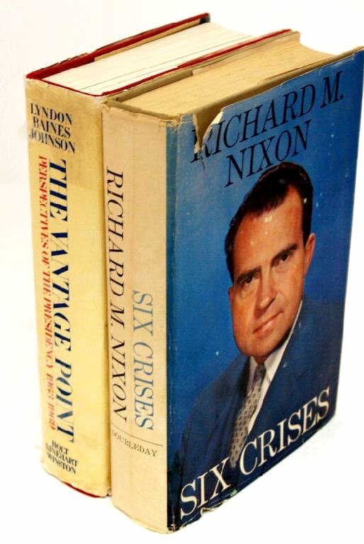 714: LOT OF PRESIDENTIAL BOOKS, LBJ, AUTOGRAPHED NIXON