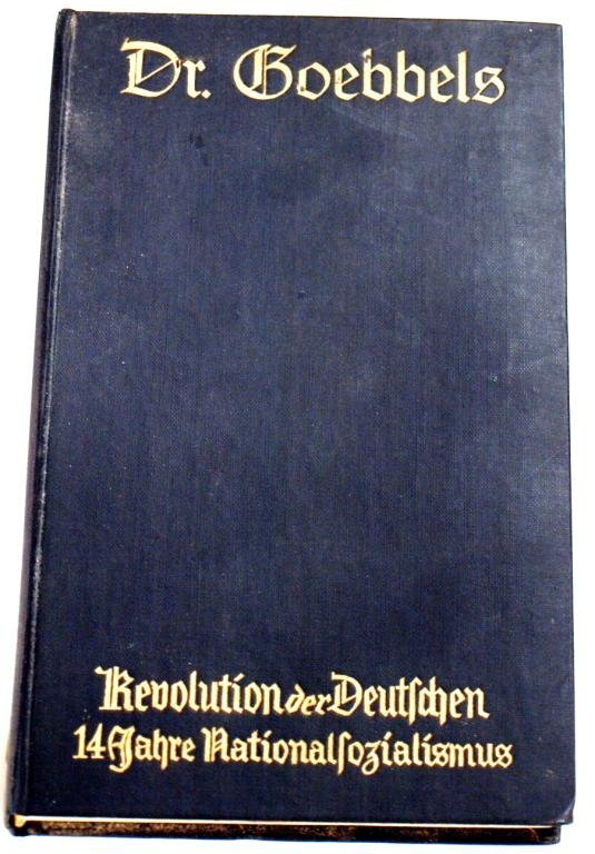 721: BOOK GOEBBELS GERMAN PROPGANDA 1st EDITION WWII