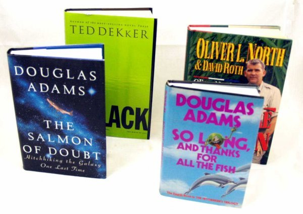 722: BOOK GROUPING, DOUGLAS ADAMS, OLIVER NORTH, ETC