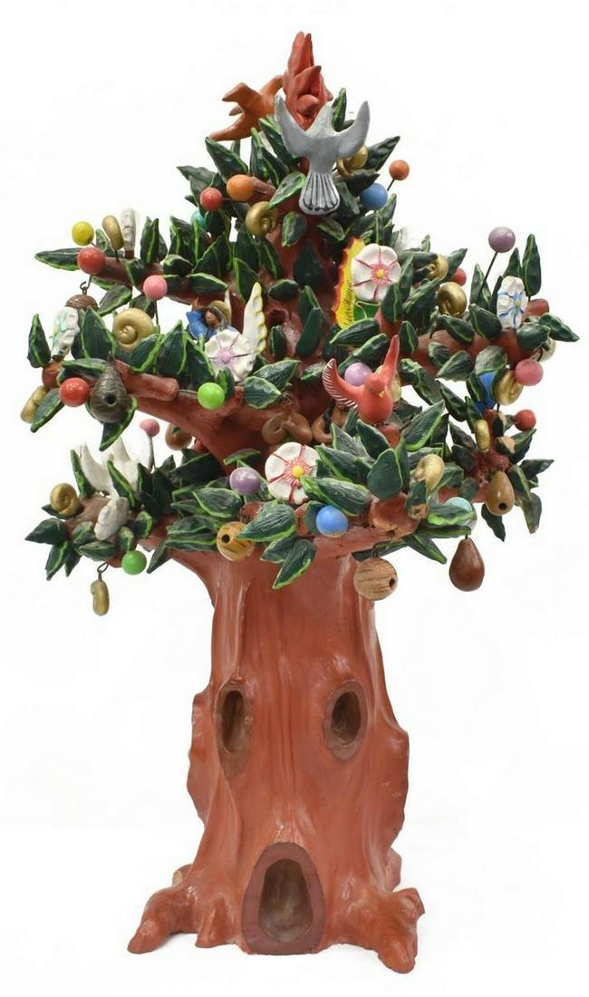 LARGE GUILLERMINA AGUILAR ALCANTARA TREE OF LIFE MEXICO