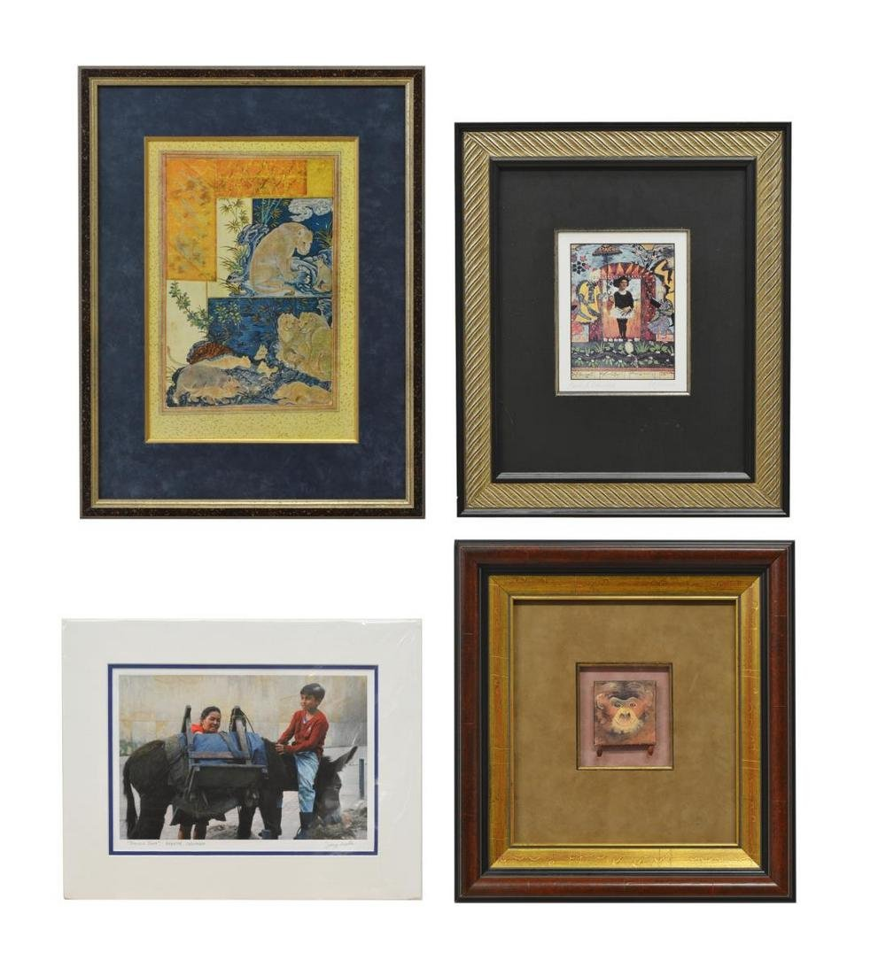(4) COLLECTION OF PHOTO PRINTS & FIGURAL COLLAGES