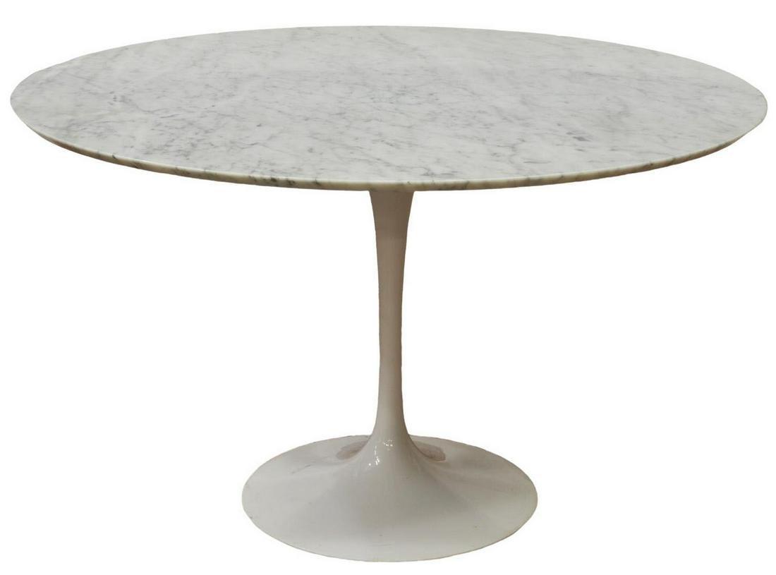 MID-CENTURY MODERN STYLE MARBLE-TOP TULIP TABLE