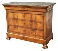 FRENCH LOUIS PHILIPPE PERIOD MARBLE-TOP COMMODE