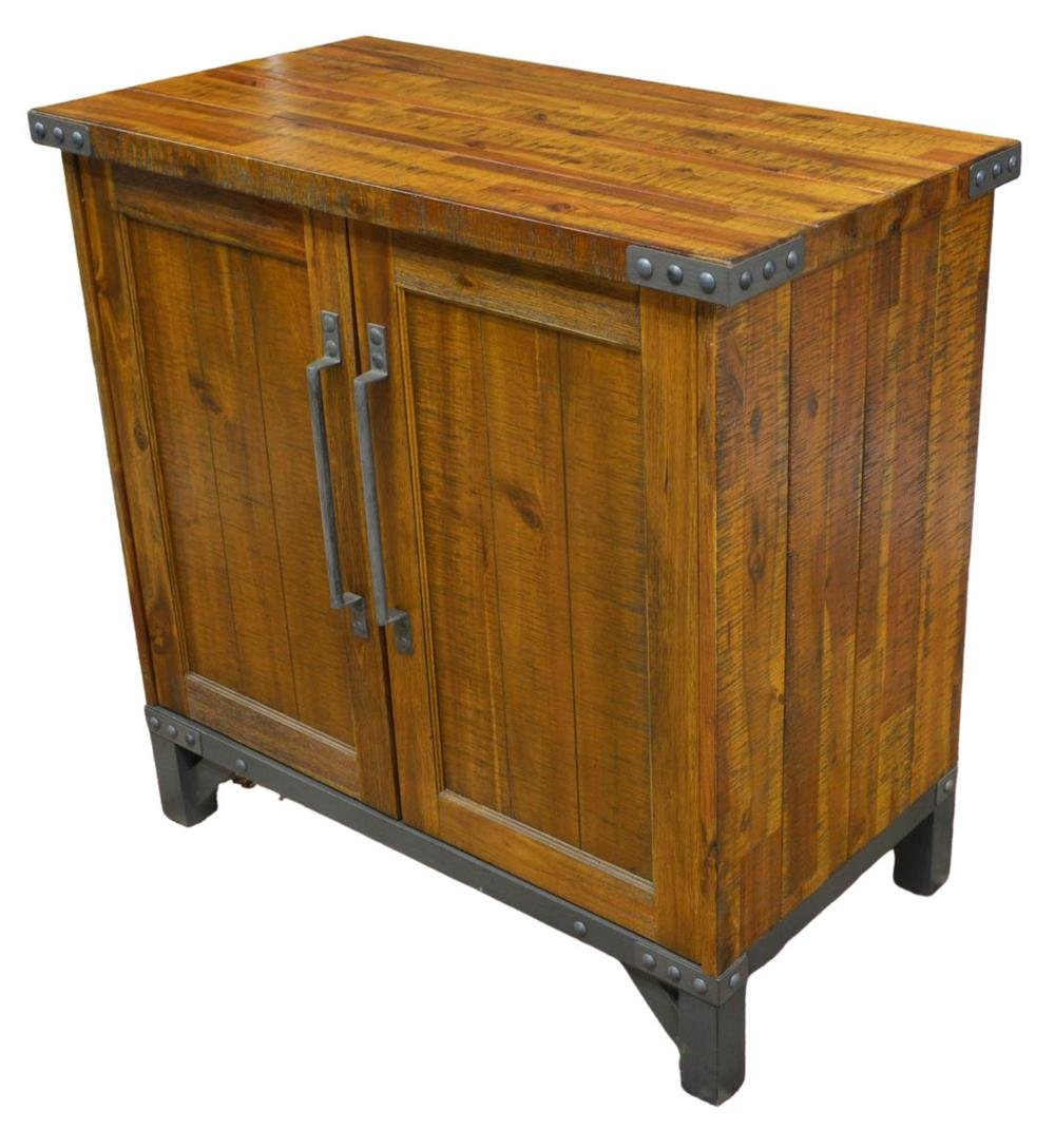 CONTEMPORARY INDUSTRIAL STYLE WOOD CABINET