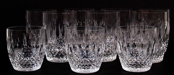 3: WATERFORD CUT CRYSTAL TUMBLERS, COLLEEN PATTERN