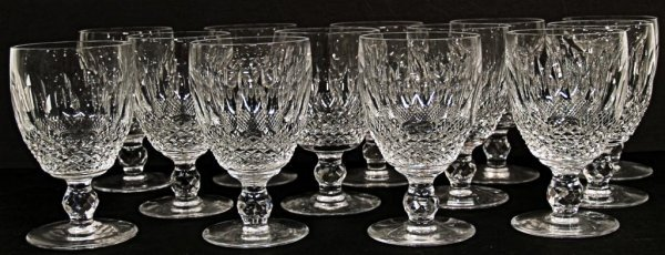 5: WATERFORD CUT CRYSTAL GOBLETS, COLLEEN PATTERN