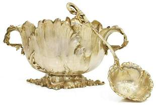 (2) FRENCH PAUL BOUTON STERLING SUGAR BOWL & SPOON