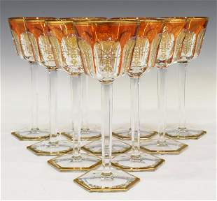 (8) FRENCH BACCARAT 'HARCOURT EMPIRE' WINE STEMS