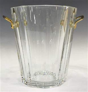 FRENCH BACCARAT CUT CRYSTAL CHAMPAGNE BUCKET