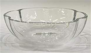 FRENCH BACCARAT 'CORAIL' CRYSTAL LOBED BOWL
