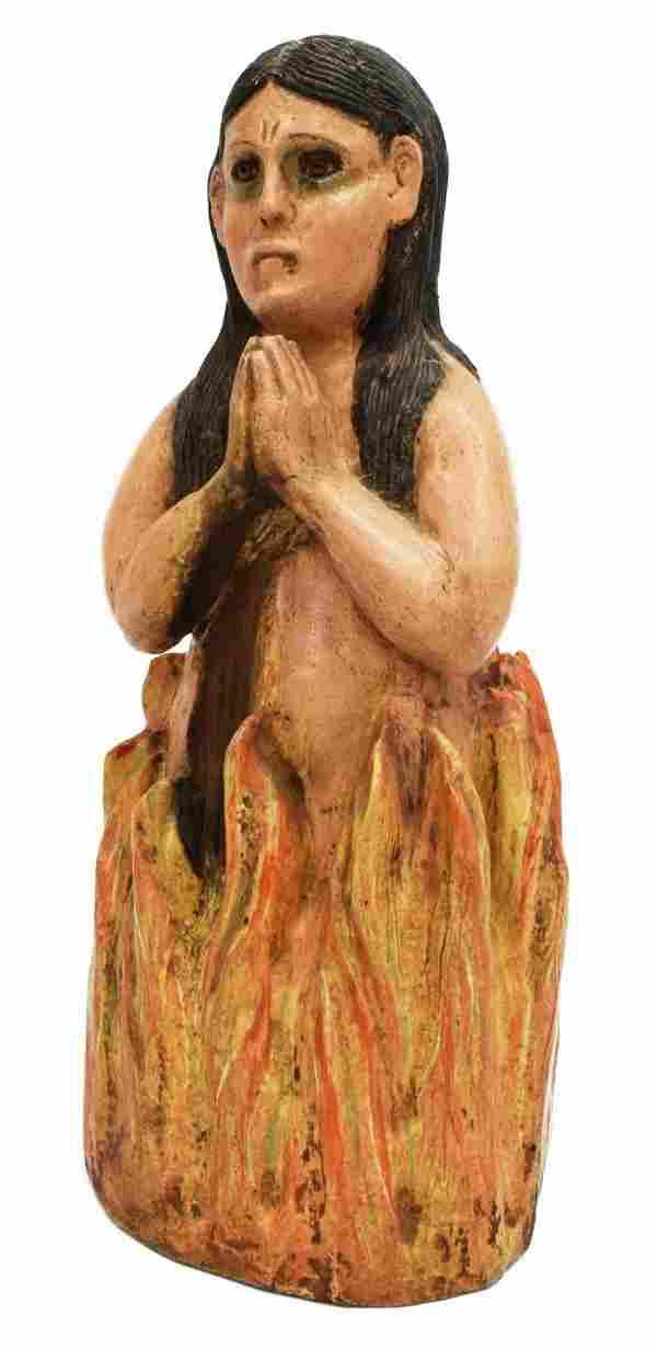 SPANISH COLONIAL ANIMA SOLA RELIGIOUS SANTO