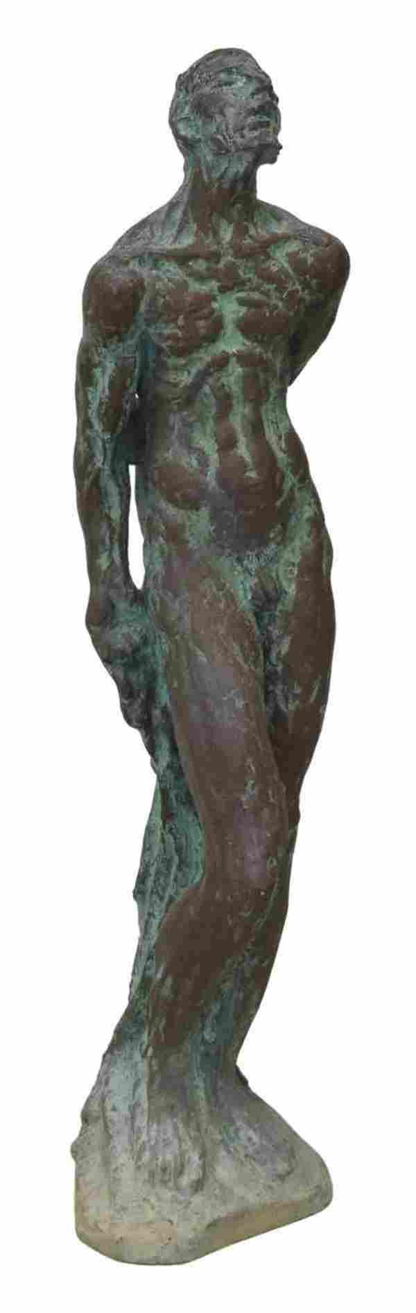 "CHARLES UMLAUF (1911-1994) ST SEBASTIAN BRONZE 41"""
