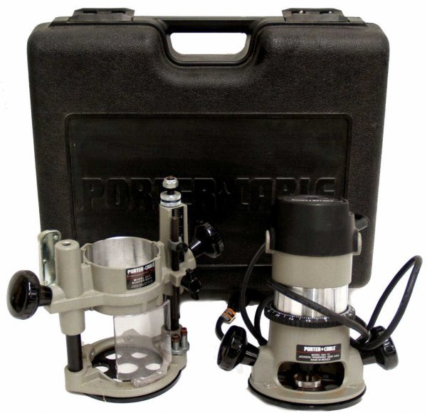 4: PORTER CABLE 693PK 1.5HP ROUTER, PLUNGE BASE